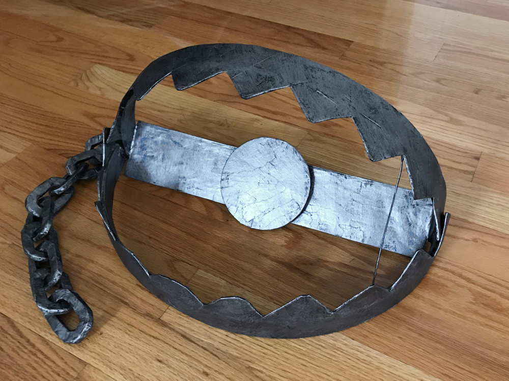 Bear trap prop - painting finished