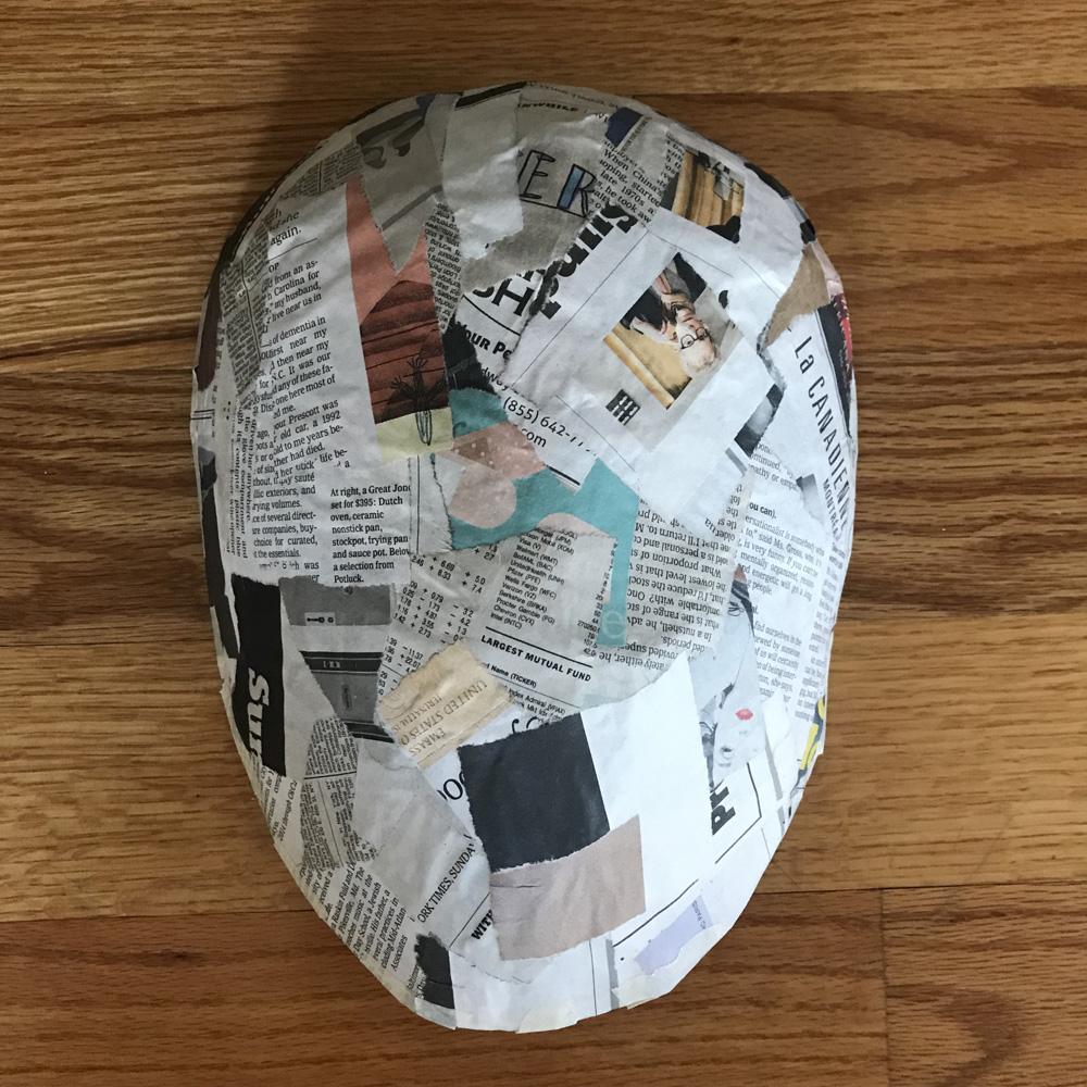 Paper mache Jason Voorhees mask - paper mache