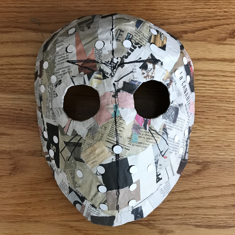 Paper mache Jason Voorhees mask - eye holes, etc