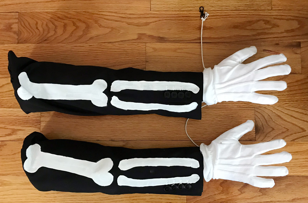 Spider skeleton costume - arms are finished!