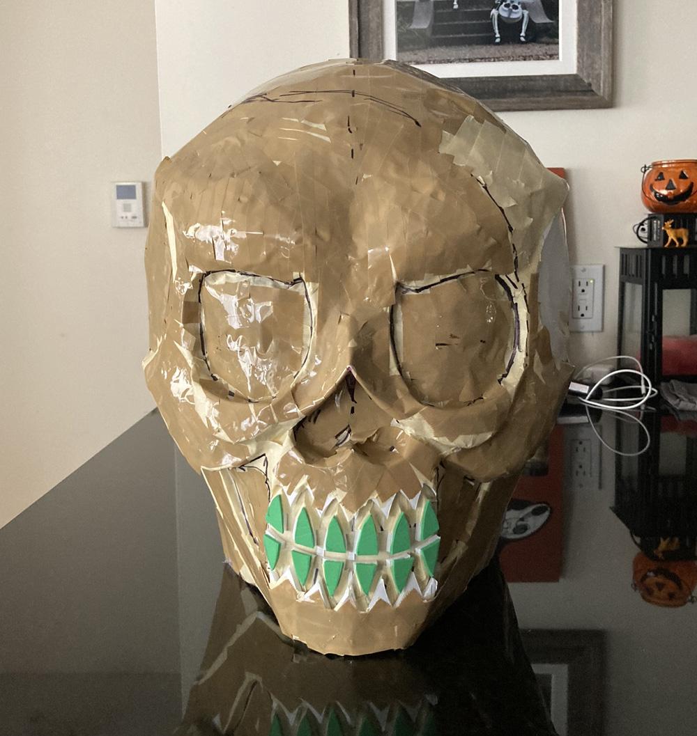 Manning Krull skull mask - teeth, shipping tape