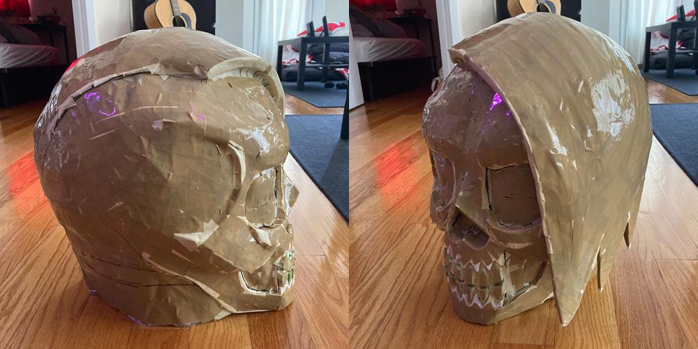 Manning Krull skull mask - side views