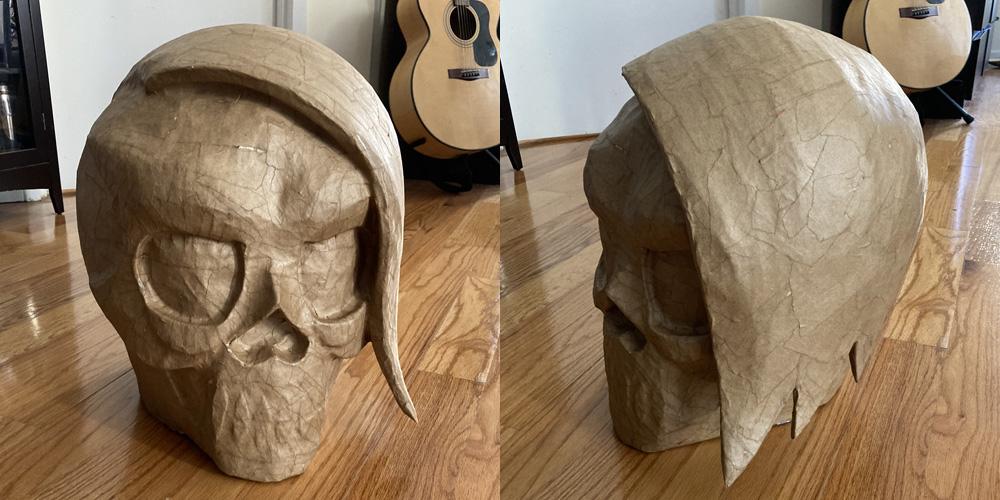 Manning Krull skull mask - paper mache done!