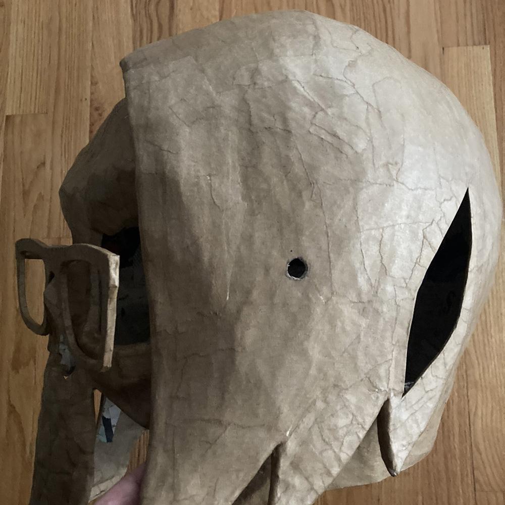Manning Krull skull mask - embedding the magnets