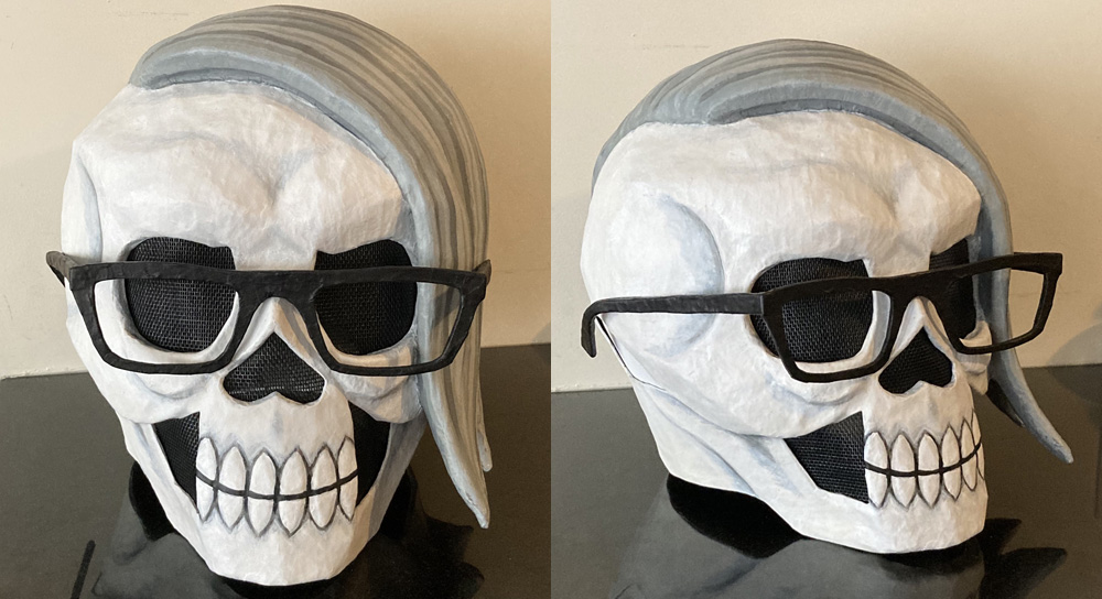 Manning Krull skull mask - painting is done!